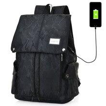 Высокая-Ёмкость Оксфорд камуфляж Водонепроницаемый мужчины рюкзак Внешний USB зарядки сумка Бизнес рюкзак высокого качества колледж школьный
