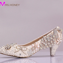 Beautiful Luxury Rhinestone Bridal Shoes Phoenix Crystal Performance Middle Heels Shoes Graduation Prom Shoes Bridesmaid Shoes