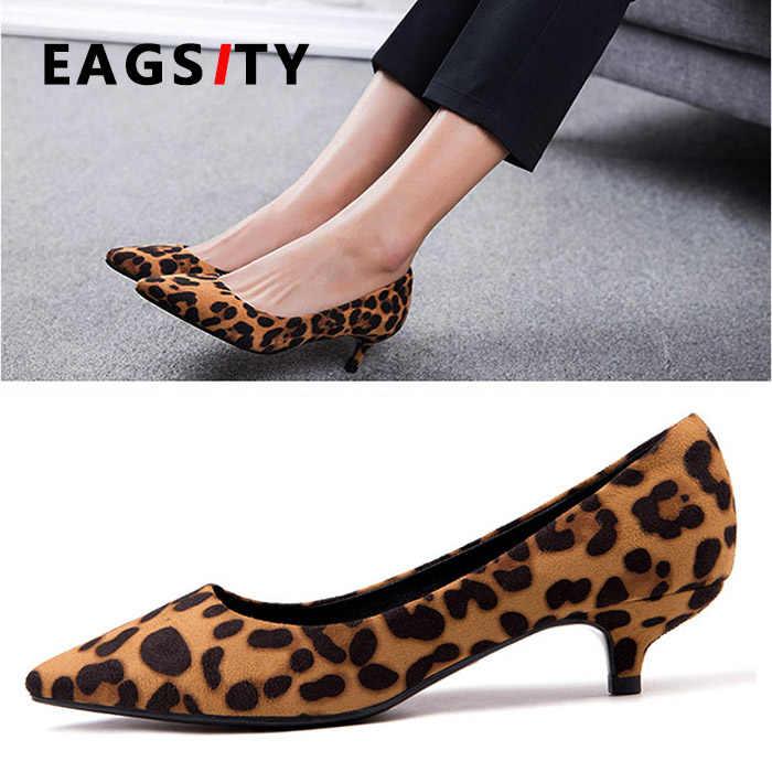 スエードセクシーなヒョウ女性の靴子猫ハイヒールポインテッドトゥの