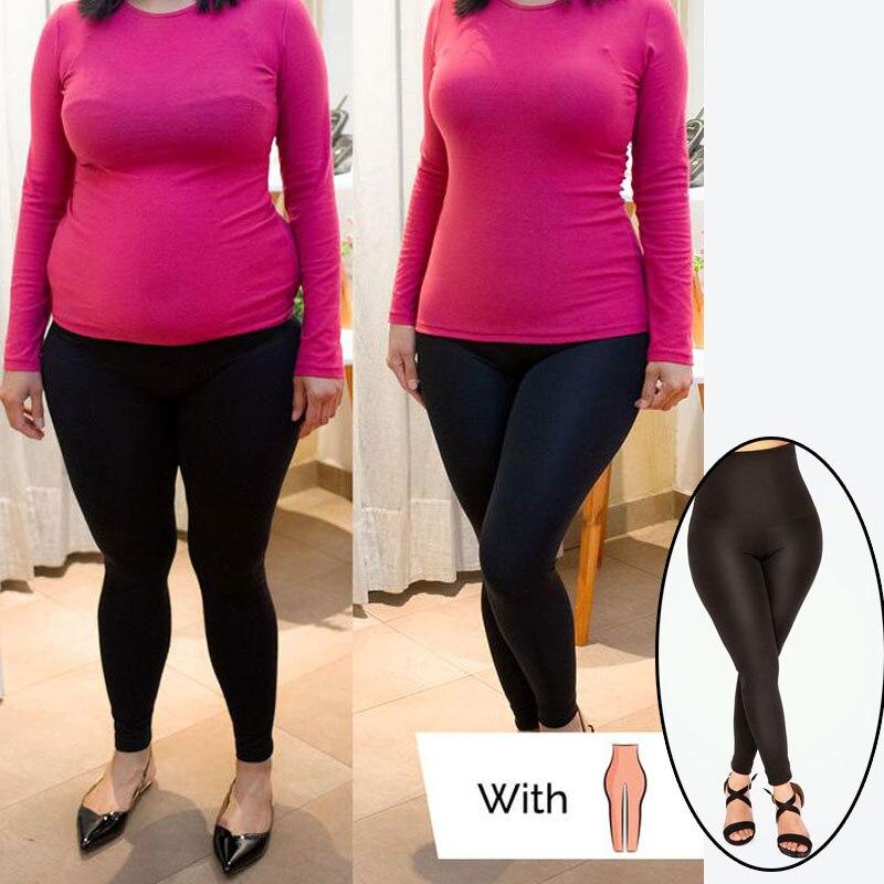 Mallas negras moldeadoras de cintura alta de talla grande sin costuras para mujeres Fitness Push Up Leggins de pies Mujer 2019
