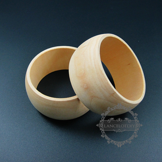 38mm width 68mm diameter natural log wood round simple bracelet bangle DIY painting bracelet supplies 1900114