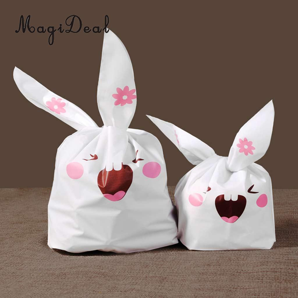50pcs Lovely Cartoon Rabbit Bunny Ears Gift Bags Bakery