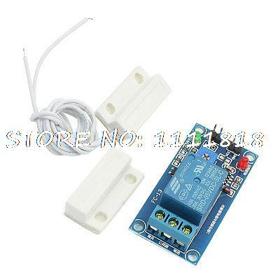 Electronic Magnetic Sensor Relay Module w Rectangle Reed Door Contact Switch thyssen parts leveling sensor yg 39g1k door zone switch leveling photoelectric sensors