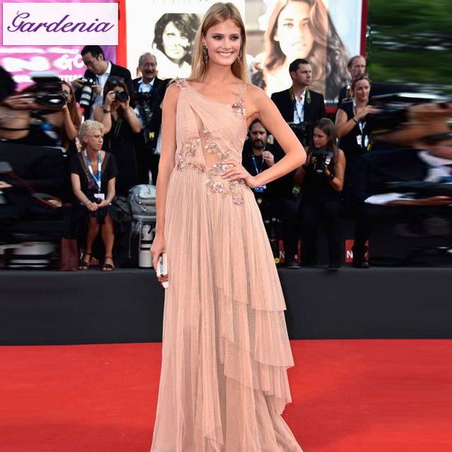 2015 Venice Film Festival Red Carpet Formal Dresses Blush Pink