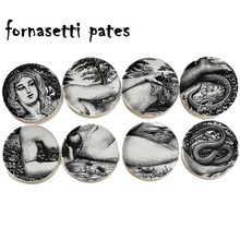 8 Inch Italy Milan Piero Fornasetti Adam And Eve Ceramics Plate Wall Hanging Dishes Background Room Home Hotel Decoration 19
