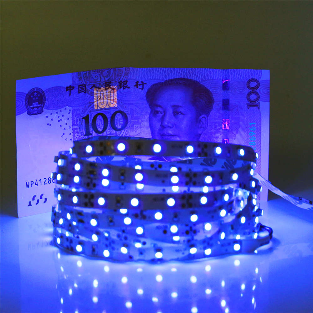 0.5m 1m 2m 3m 4m 5m SMD 2835 UV Flexible LED Strip light 12V 60leds/m 395-405nm Ultraviolet Waterproof non/IP65 LED Diode Tape0.5m 1m 2m 3m 4m 5m SMD 2835 UV Flexible LED Strip light 12V 60leds/m 395-405nm Ultraviolet Waterproof non/IP65 LED Diode Tape