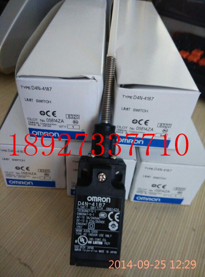 [ZOB] Supply new original authentic guarantee OMRON D4N-4187 Omron limit switch  --5PCS/LOT [zob] supply of new original omron omron limit switches d4n 212g 5pcs lot