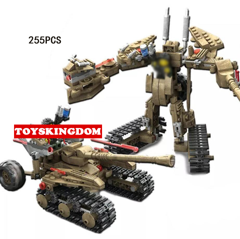 Toys & Hobbies Hot Modern Military Tiger Heavy Destroyer Vehicle 2in1 Building Block Army Figures Walking Robot Bricks Toys For Boys Gifts