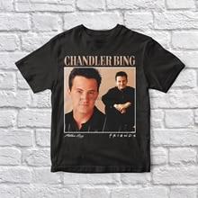 Chandler Bing Friends 90s Vintage Unisex negro camiseta hombres camiseta