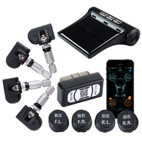 Viecar Car Tire Pressure Alarm System TPMS Monitoring Bluetooth APP OBD LCD Display Tyre External /Built in Sensor Android IOS