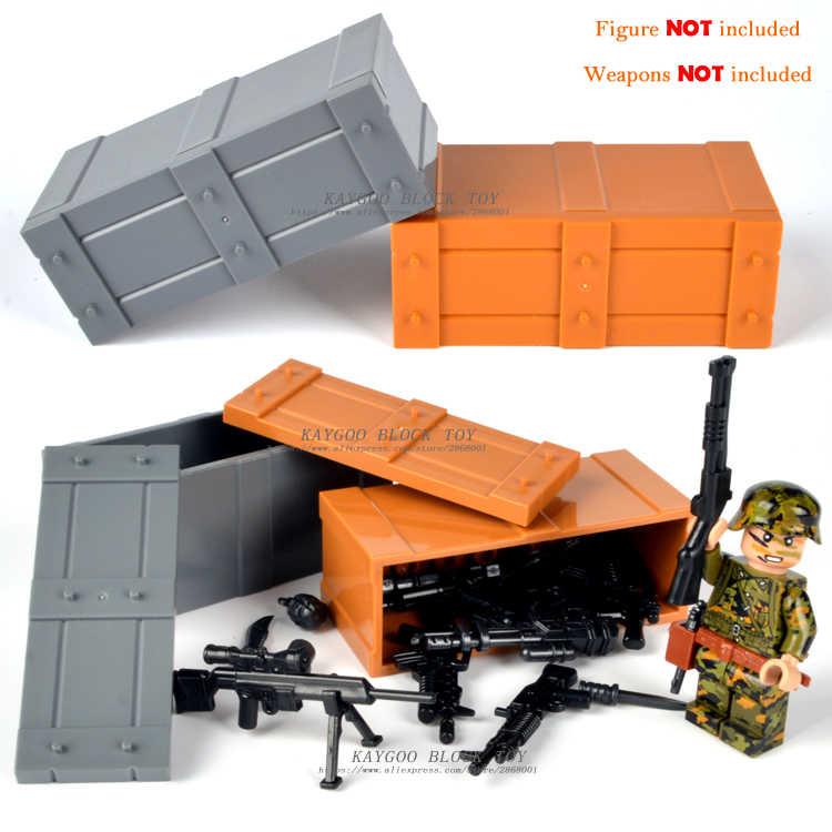 Военный Спецназ полицейское оружие Набор оружия армейские солдаты строительные блоки MOC оружие городская полиция Военная серия