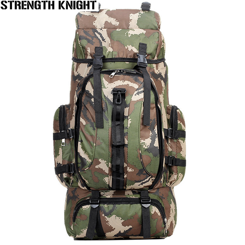 70L Men Military Backpack Large Capacity Camouflage Bag Women Mountaineering Backpack Waterproof Travel Bag 36l women gym bag new style men fitness backpack waterproof oxford outdoor mountaineering bag large capacity travel sport bag