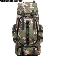 70L Men Military Backpack Large Capacity Camouflage Bag Women Mountaineering Backpack Waterproof Travel Bag men zip front camouflage detail backpack