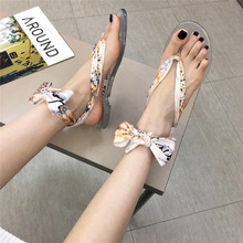 Women Sandals Summer Shoes Mixed Colors Flower Flat Roman Gladiator Casual Lace Up Ribbon Flip Flop