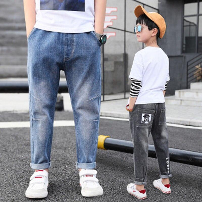 2018 Heißer Verkauf Jungen Frühling Und Herbst Jeans Neue Koreanische Version Des Großen Jungen Cartoon Flut Hosen Herbst Kinder Der Hosen 4-9 T