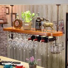 Европейский твердый деревянный домашний винный стеллаж, индивидуальный держатель для чашки, креативный барный винный Стеклянный Стеллаж, бокал, висячий винный стеллаж