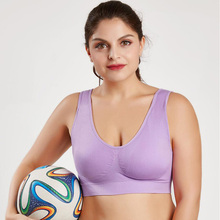 Fat MM increase fat and no trace sports bra full cup U-shaped no back solid color adjustment sleep underwear free shipping no sleep