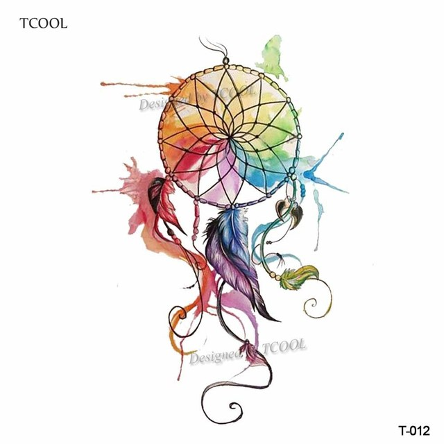Aliexpress Buy TCOOL Watercolor Dreamcatcher Temporary Fake Gorgeous Water Color Dream Catcher