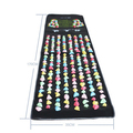 Foot Massage Mat Plastic Stone Pad Road Fitness Walking Carpet Acupuncture Massage Acupuncture Cobblestone Yoga Mat 175*35cm