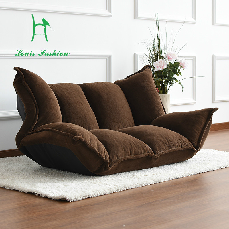 Multifunctional tatami lounger double folding sheets sweet for Sofas for small rooms