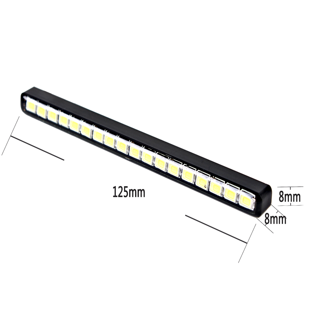 LEEPEE Universal Super Bright Car Daytime Running Lights DC 12V Car daytime LED light DRL Waterproof 18 LEDs Car Styling