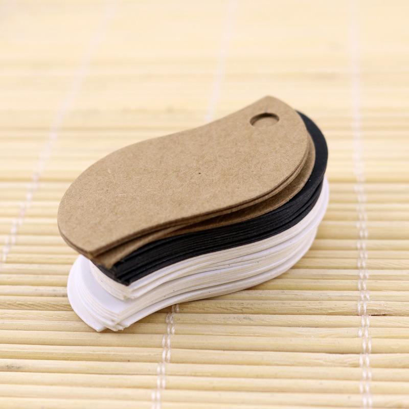 100Pcs 3*5 Cm Blank Leaf Kraft Paper Hang Tags/gift Decorated Card/baking Price Tags/gift Tags/labels