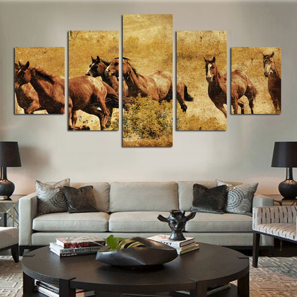 Painting Canvas For Living Room Compare Prices On Canvas Horse Painting Online Shopping Buy Low