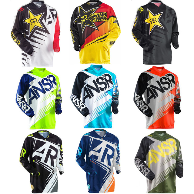 2017 New ANSR Speed Bike Riding Jersey Mens Long Sleeved Summer Motorcycle Jersey T-shirt jersey Motocross MTB Bike T-Shirts
