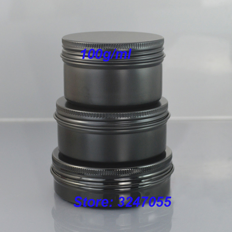 100G/ML Black Empty Aluminum Cream Containers, Capsules Refillable Metal Case, Empty Aluminum Cosmetic Mask Storage Tin Jars 100g ml black empty aluminum cream containers capsules refillable metal case empty aluminum cosmetic mask storage tin jars