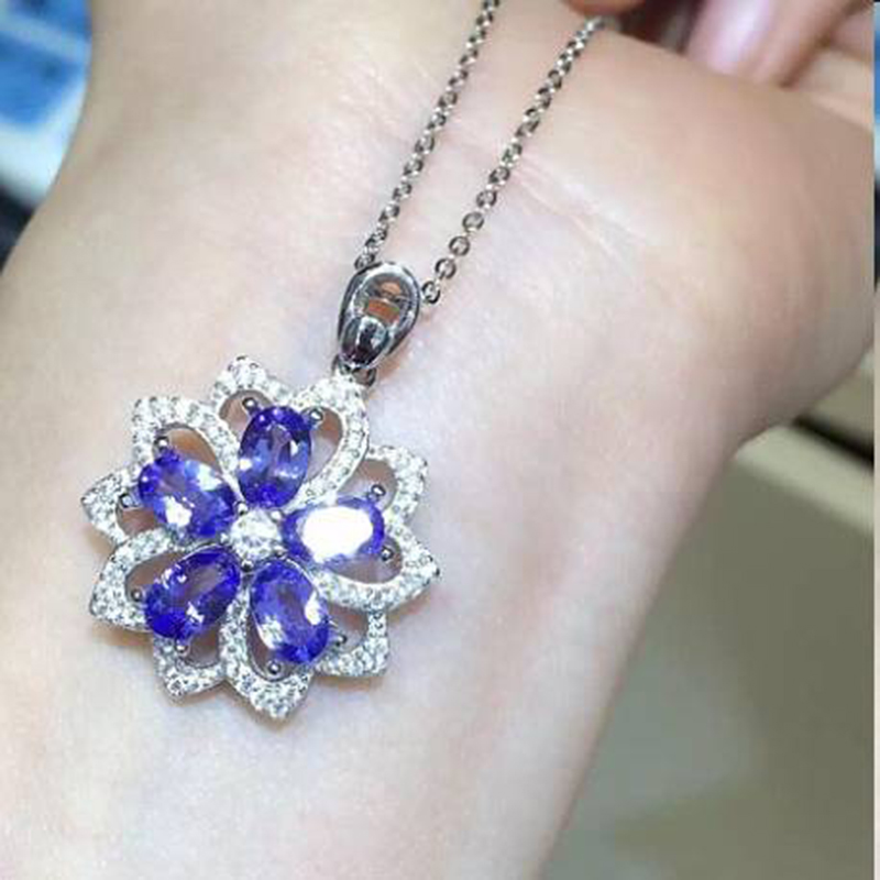 Collier Collares Qi Xuan_Fashion Jewelry_Blue Stone Necklaces_S925 Solid Silver Fashion Blue Necklaces_Factory Directly Sales Collier Collares Qi Xuan_Fashion Jewelry_Blue Stone Necklaces_S925 Solid Silver Fashion Blue Necklaces_Factory Directly Sales