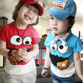 2016 summer casual baby boys clothes children's clothing cartoon kids o-neck short-sleeve T-shirt