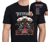 Testament With Sepultura American 2017 Men S T Shirt Black Size S To 3XL 2018 Summer