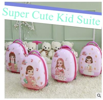 Rolling Suitcase for girls Egg style kid suitcase Travel Luggage suitcase for kid trolley luggage Wheeled Suitcase trolley bags