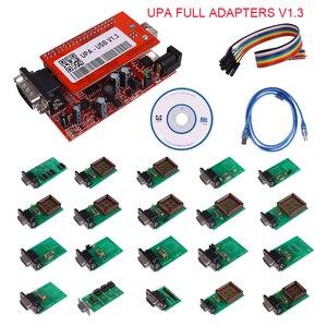 Последние UPA USB программист UPA-USB V1.3 полный пакет с TMS и NEC адаптеры Полный Адаптеры версия бесплатная доставка