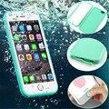 Venda quente de borracha de silicone à prova de choque à prova de poeira à prova d' água case capa para fundas iphone 6 três anti case para coque iphone 7