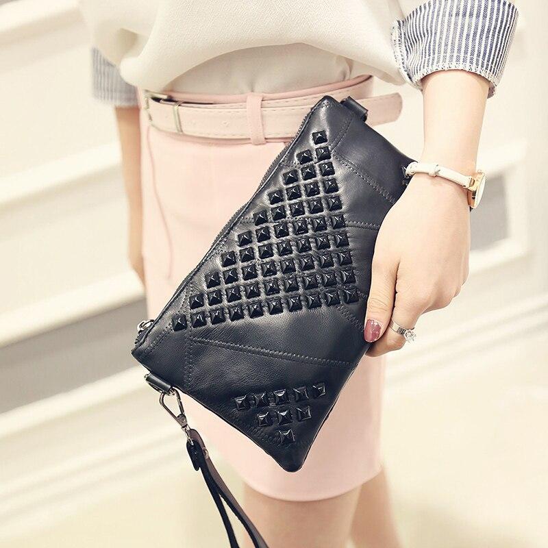 Fashion Women's Clutch Bags Genuine Leather Shoulder Messenger Bag Female Luxury Designer Handbags Purses Crossbody Bags Bolsas