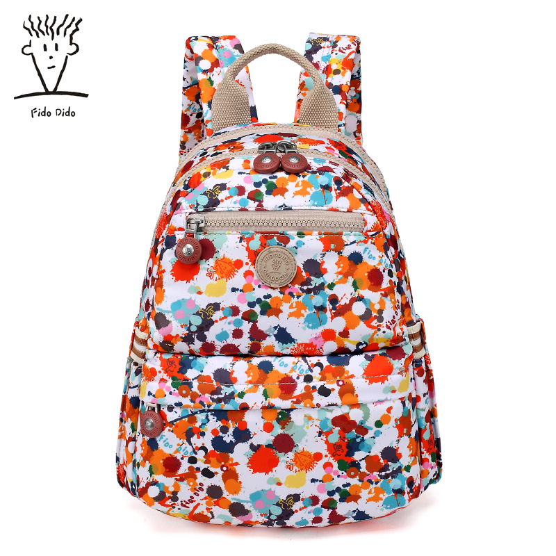Fido Dido Ladies Shoulder Bag Korean Version of the Wild Backpack Personalized Inkjet Printing Oxford Cloth Large Capacity Bag!! oxford bag korean version of the female students shoulder bag large capacity backpack canvas backpacks