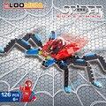 126 unids/set asamblea diy pequeñas partículas de bloques de construcción de deformación robot spider man brinquedos juguete educativo temprano