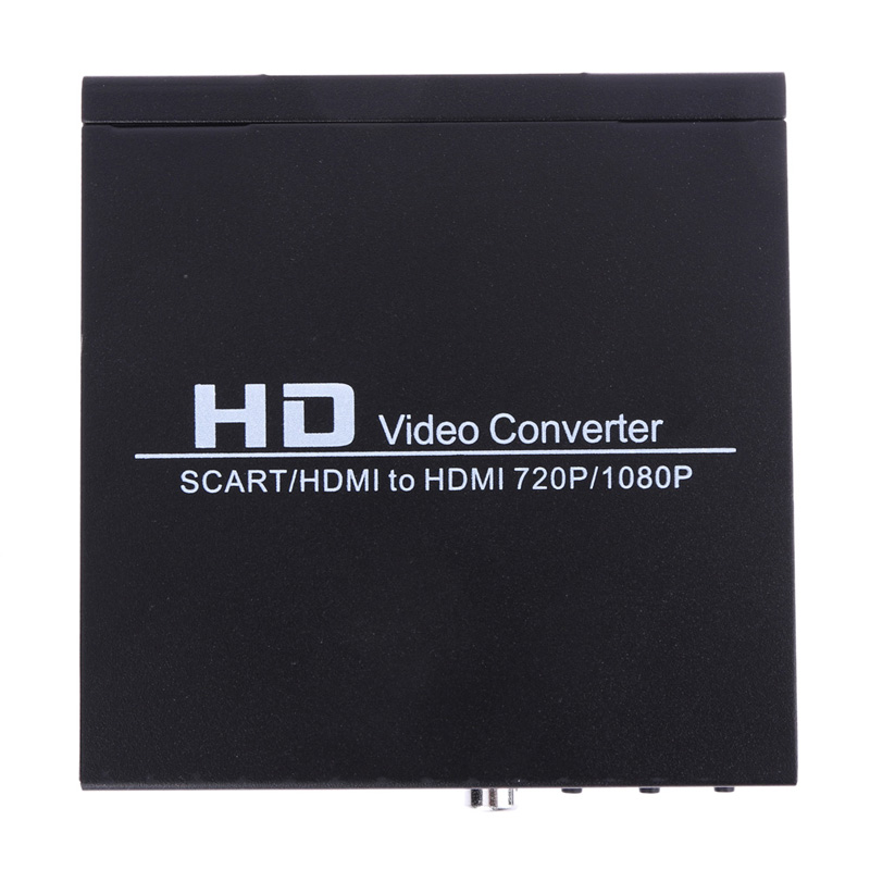 Scart/HDMI to HDMI Video Converter 720P 1080P Composite Video HD Converter Adapter Monitor Box for HDTV DVD STB US Standard Plug