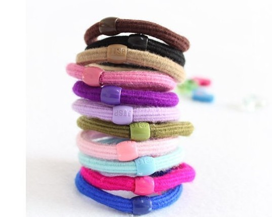 100 PCS Soft Cotton Girl Rubber Hair Bands Elastic Ties Bands Headband Rope Woman