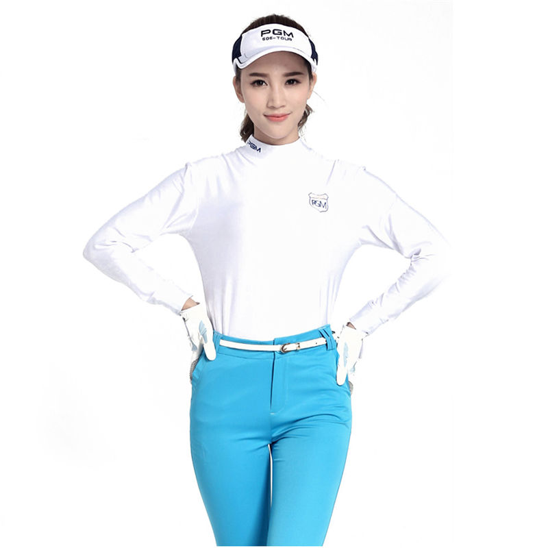 PGM Golf Shirts Long Sleeve Golf Sportswear Quick Dry Breathable Solid Shirt Girls Winter Underwear Ladies Long-sleeved T-shirt ...