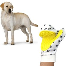 Pet Cleaning supplies Massage To Float Hair Printing Gloves White Cat Dog Hair Bathing Beauty Gloves Dog Silicone Comb Gloves