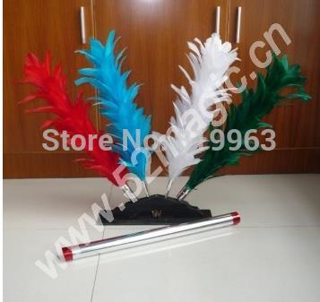 Hamed bâtons de plumes colorés-tour de magie, plume changeante de couleur, fleur changeante de plumeau, mentalisme, scène, gros plan, amusement