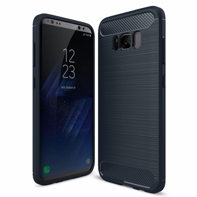 the best attitude ac1c4 2a611 US $2.38 |For Samsung Galaxy S7 S7 Edge Rubber Case Carbon Fiber TPU  Brushed Rugged TPU Case For Galaxy S6 S6 Edge S7 S7 Edge S8 S8 Plus -in  Fitted ...