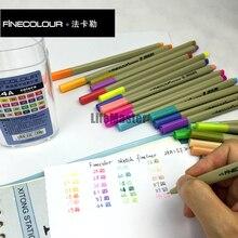 LifeMaster Finecolour رسم اينر 0.3 مللي متر 24 لون مجموعة شاحب اللون/منتظم الرسم الملون القلم اضافية غرامة مثالية لتصميم المانجا