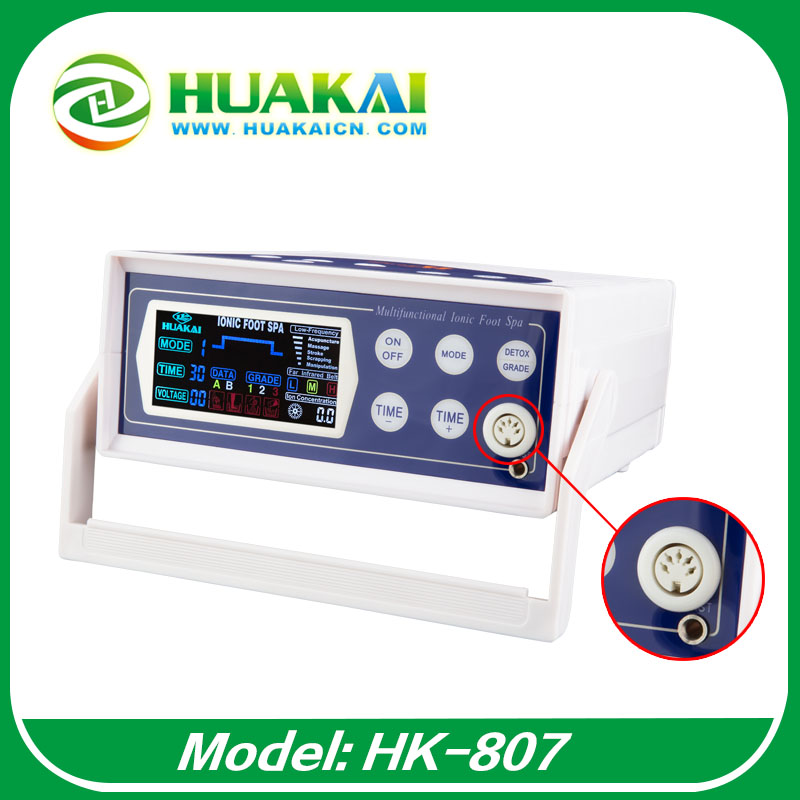 2015 New Model Ionizer Foot Detox Machine With Color Big LCD And High ORP a pair foot model foot reflex zone model foot acupuncture model chinese with instructions