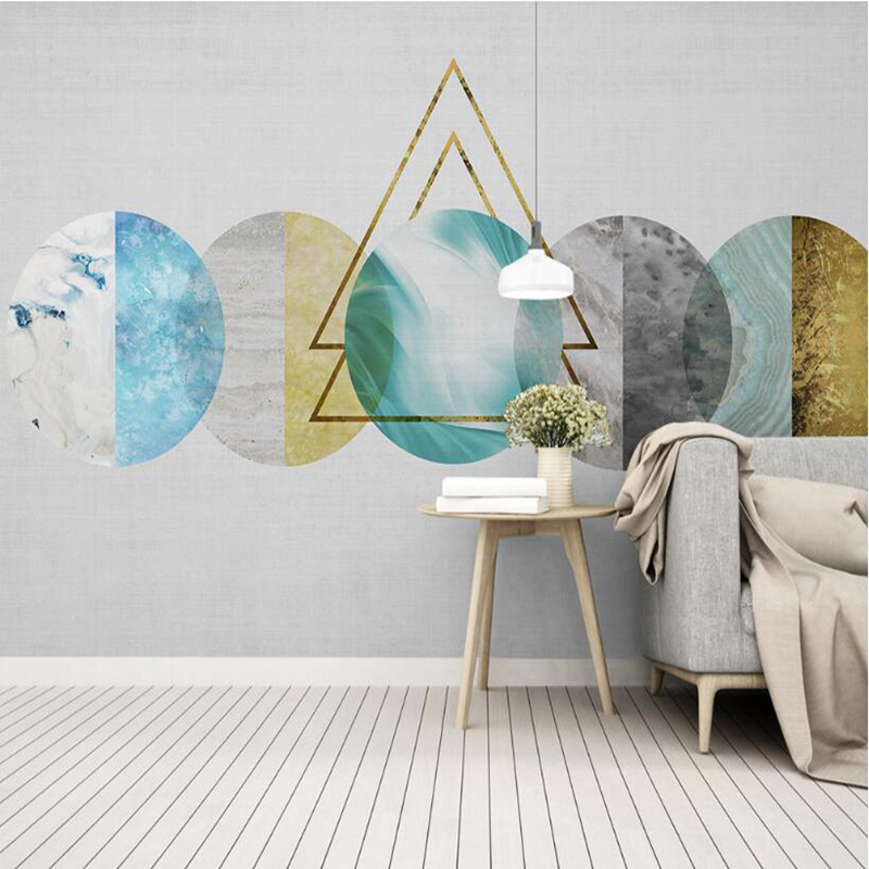 YOUMAN Desktop Wallpapers Home Decor Living Room Photo Wallpaper for Walls Bedroom Abstract Geometry Simple Colorful Mural Wall wallpaper for walls 3 d modern trdimensional geometry 4d tv background wall paper roll silver gray wallpapers for living room