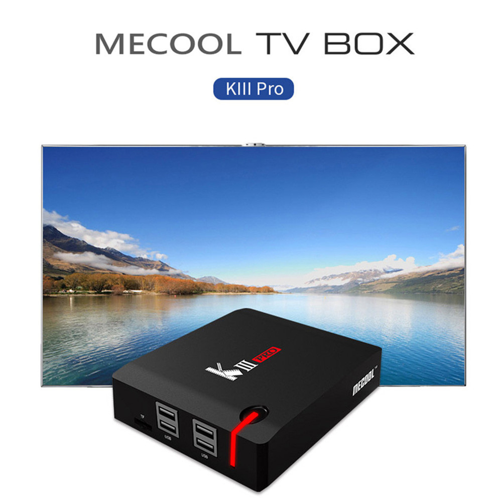 MECOOL KIII PRO <font><b>DVB</b></font> <font><b>T2</b></font> + S2 3G16G <font><b>Android</b></font> 6.0 TV Box Amlogic S912 <font><b>Octa</b></font> Core 4 K Dekodierung 2,4G + 5G Dual Band WiFi BT 4,0 Media Player image