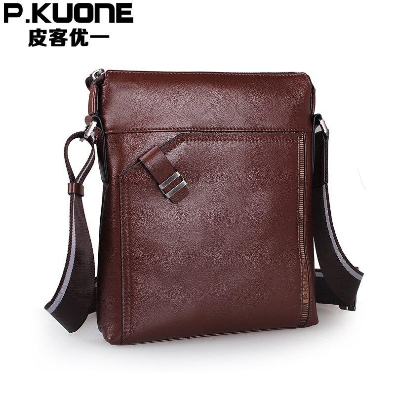 все цены на new collection 2017 Genuine leather business casual men messenger bag, high quality cowhide leather crossbody brand bags for men онлайн