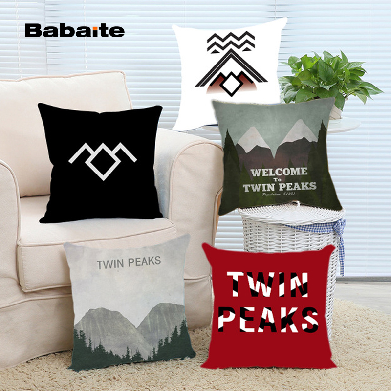 Popular New Welcome to Twin Peaks Camera Art Design Cool Cover 16x16 18x18 20x20 24x24 inch Two Size Cool Case Stain Pillowcases